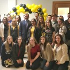 The Lourdes team pose with Dutchess County Executive, Marc Molinaro during the event.