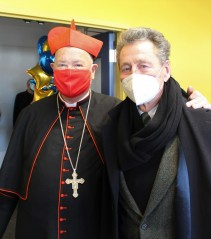 Hal Pontez poses with Cardinal Dolan during our recent Grand Opening of the Health & Wellness...