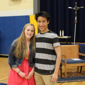 Class of 2017 Salutatorian Emily Mantaro and Valedictorian Andrew Lam.