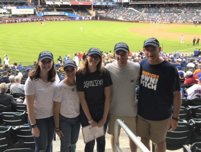 The Goebelbecker Family celebrates with Kayleigh at Citi Field. From left to right: sister, Alexa...