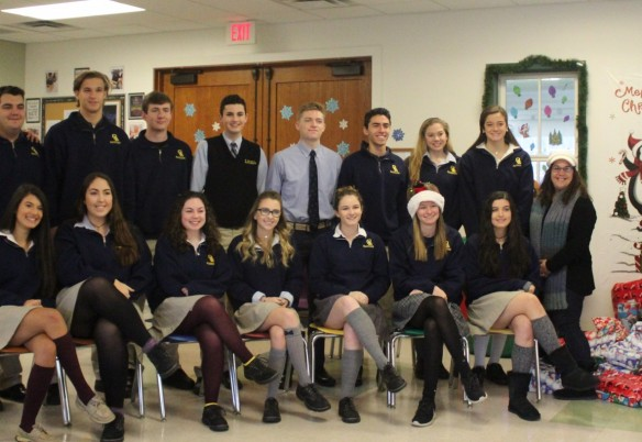 "Class of 2018 ""Elves"" Deliver Christmas Goodies"