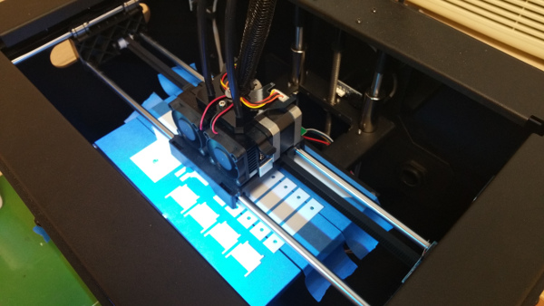 Parts for the 3D Laser Scanner are printed using school's 3D Printer.