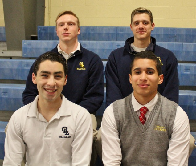 Stephen Baker, Jason Cruz, Jason Boyko and Christian Thomas will compete in the  NYSPHSAA Swimmin...