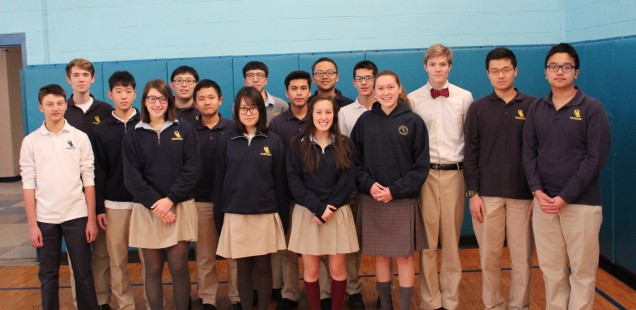 OLL Math Team poses prior to Wednesday's competition. From left to right: Darren Horton, Alex Gia...
