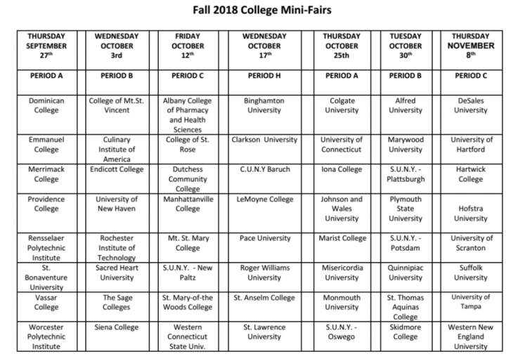 College Mini Fairs